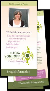 Flyer Heilpraktikerin Ilona Vonhoff